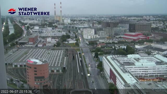 Irgend etwas stimmt nicht. Hier sollte ein Livebild Donaukanal - Erdbergstraße - Gasometer sein.